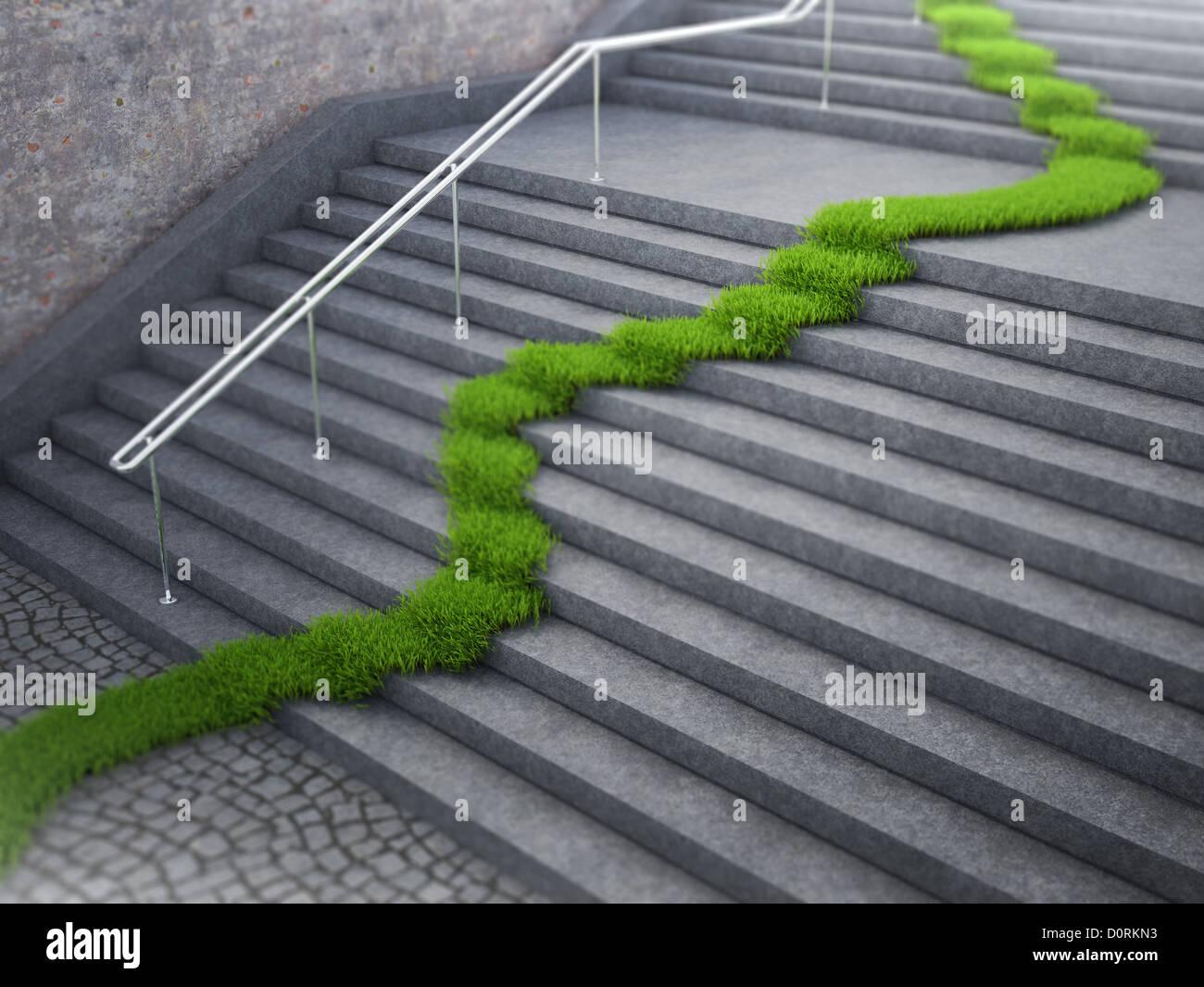 Concepto de ecología urbana Imagen De Stock