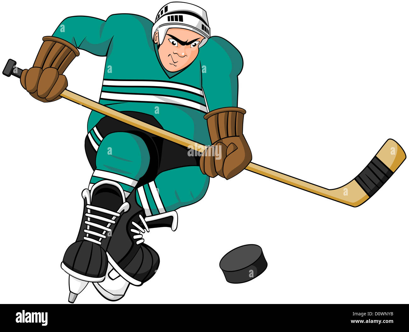 Jugador de hockey patinaje agresivo Foto & Imagen De Stock: 52197135 ...