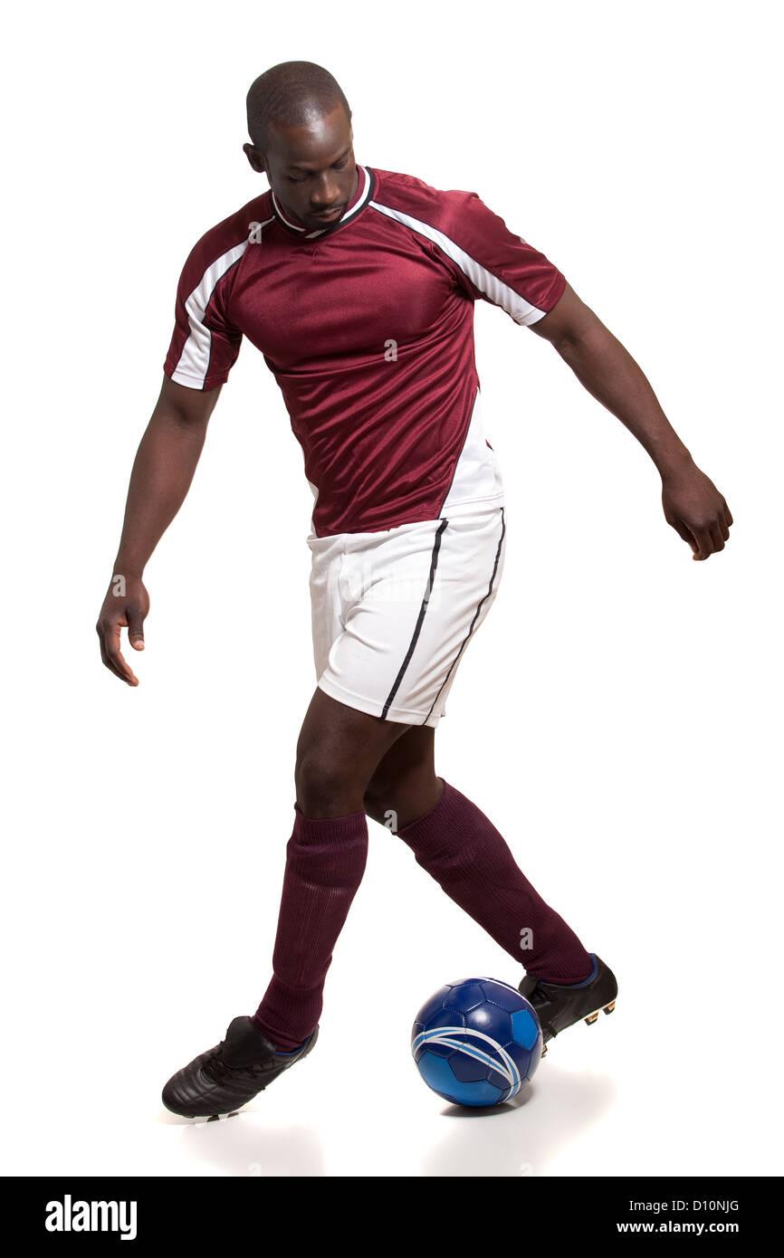 Jugador de fútbol Foto de stock