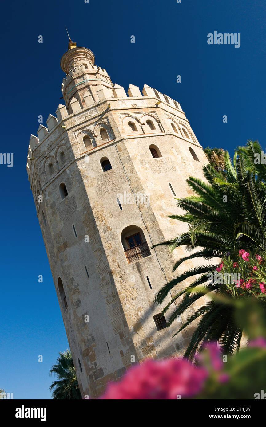 Torre del Oro, La Torre del Oro, Sevilla, España. Imagen De Stock
