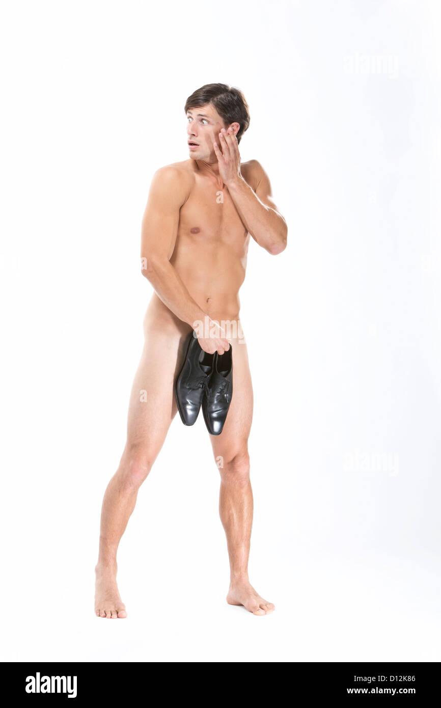 El Cubriendo Zapatos Hombre Cuerpo Foto Desnudo Con NegrosCerrar F13lKJcT