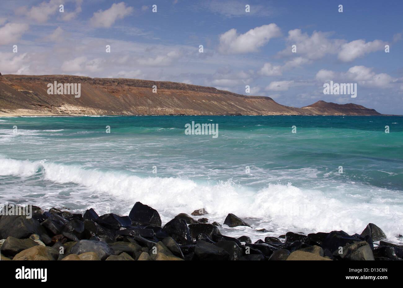 Serra Negra Beach - la isla de Sal, Cabo Verde Imagen De Stock