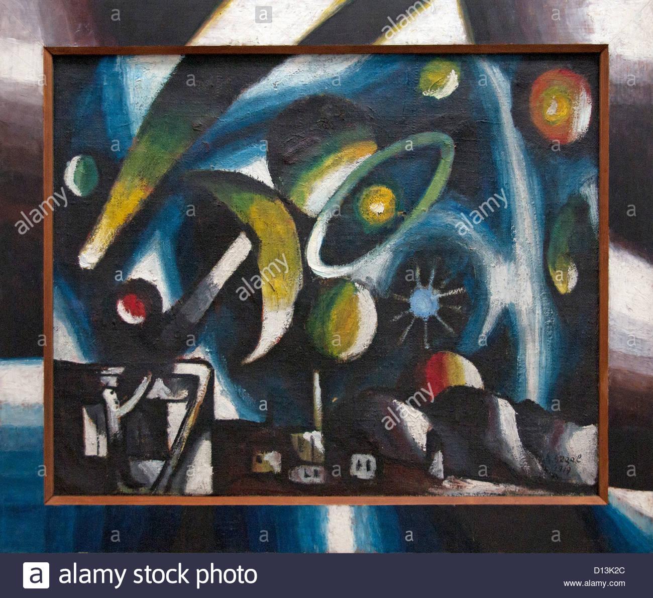 El astrónomo / Ciclo de trabajo 1919 Arthur Segal rumana Rumania Imagen De Stock