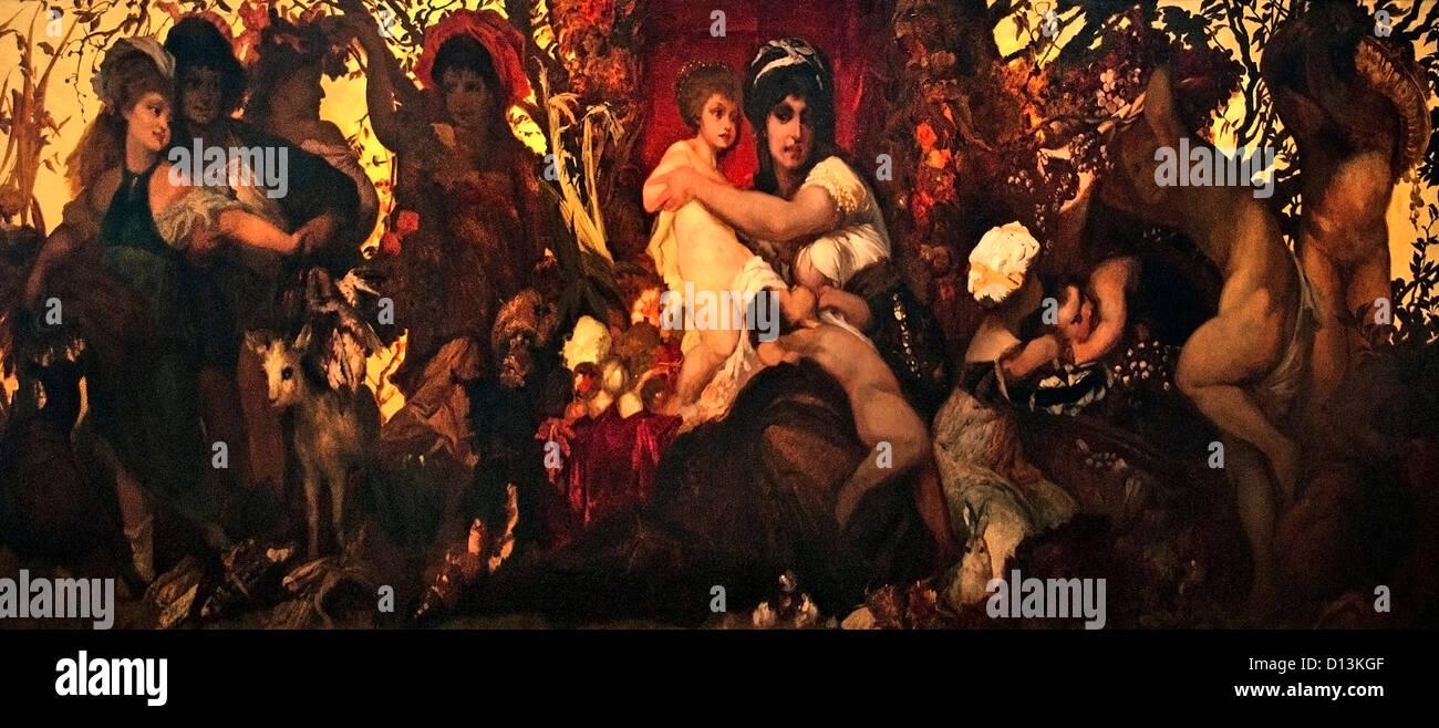 Abundantia el don de la Tierra de 1870 Hans Makart Austria Austria Imagen De Stock