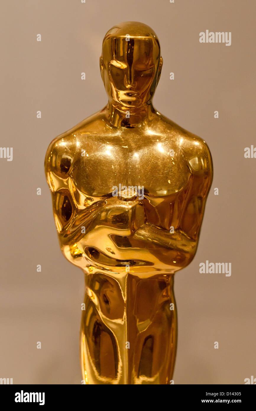La estatuilla de los Premios de la Academia Imagen De Stock