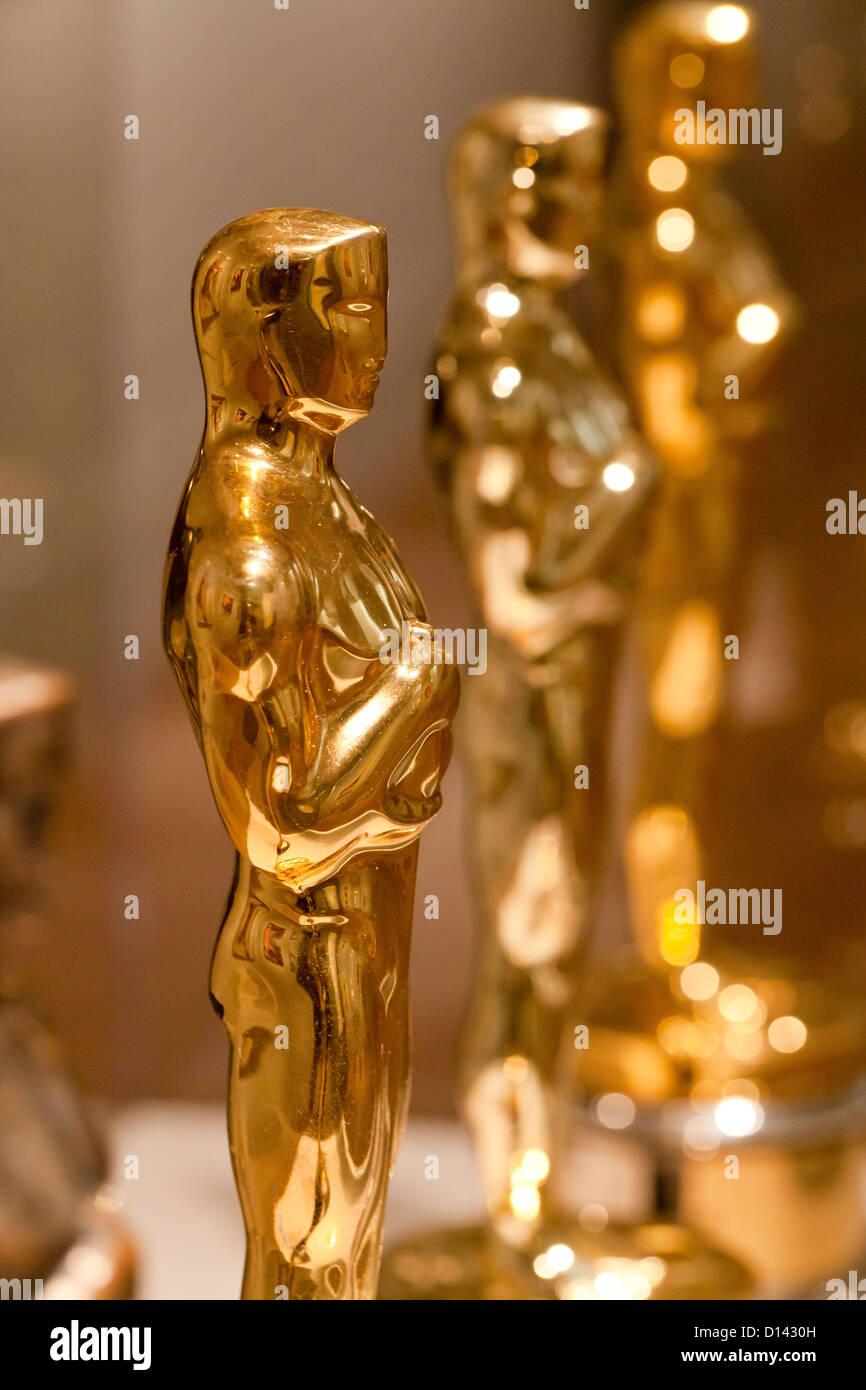La estatuilla de los Premios de la Academia - EE.UU. Imagen De Stock