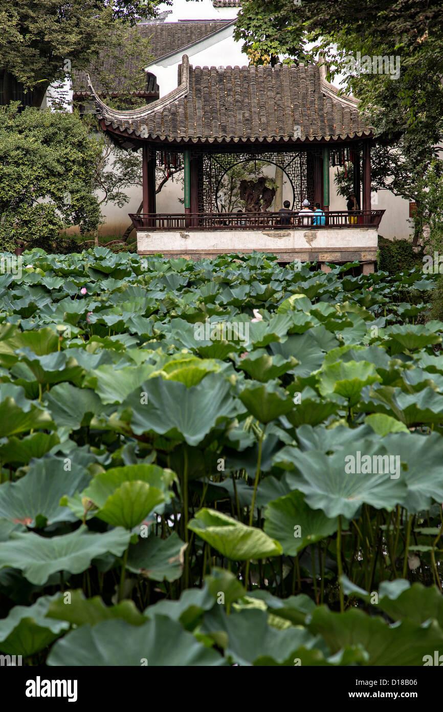 Jardín del Administrador Humilde en Suzhou, China. Imagen De Stock