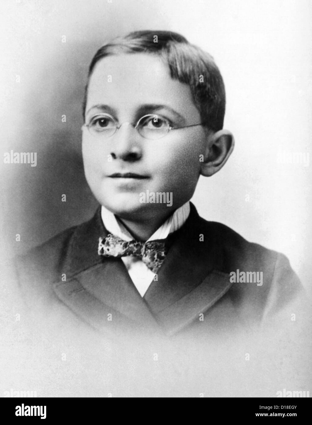 Harry Truman como un colegial. Ca. 1892. (CSU_ALPHA_194) Archivos CSU/Everett Collection Imagen De Stock