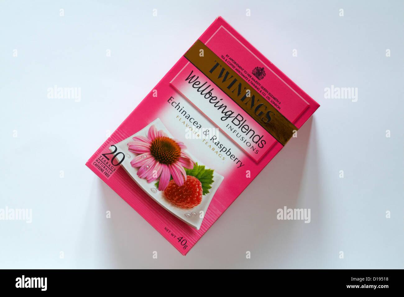 Bolsas de té Twinings teabags - Bienestar combina la equinácea infusiones    sabor frambuesa teabags Imagen 068011ed42cf