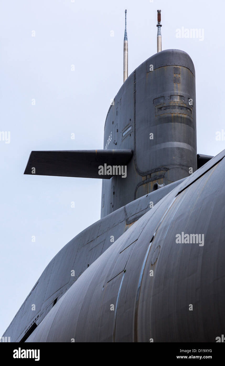 """Francia, Normandía, Cherbourg, La Cité De La Mer, el submarino nuclear """"Le Redoutable"""" Imagen De Stock"""