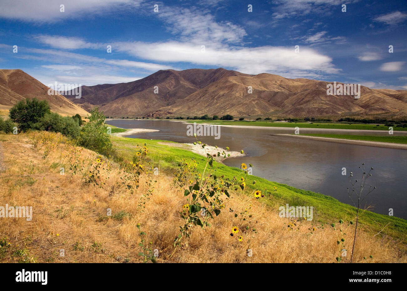 O00846-00...Oregon - El Río Snake de Farewell Bend State Park. Imagen De Stock