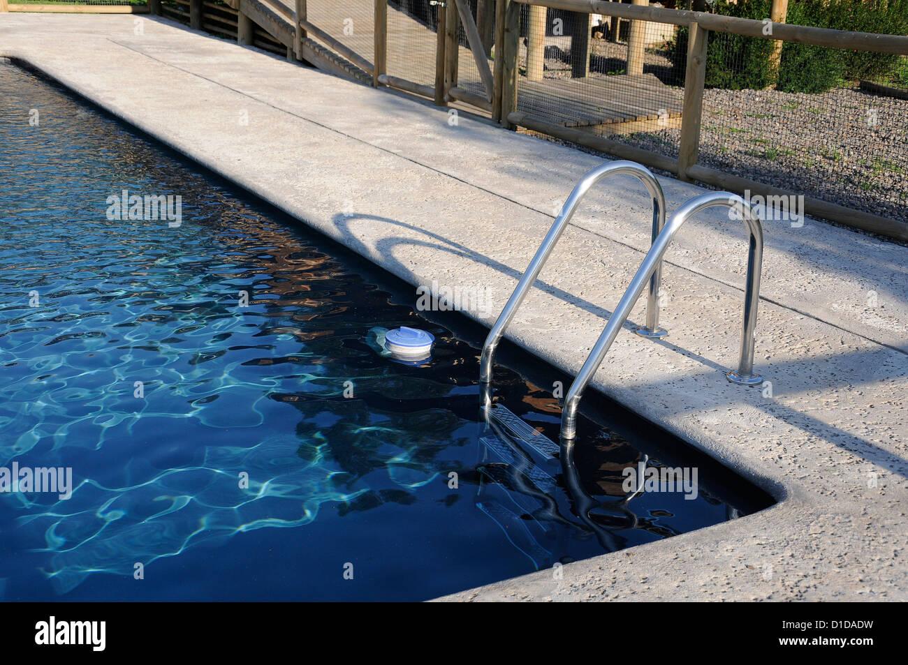 Piscina con agua azul océano Imagen De Stock