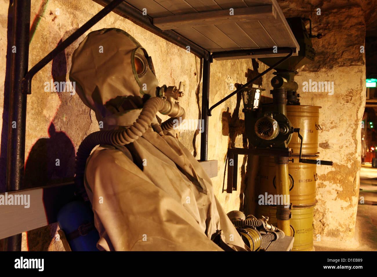 Visualización de la época de la guerra fría en el Bastión pasajes subterráneos, y una parte Imagen De Stock
