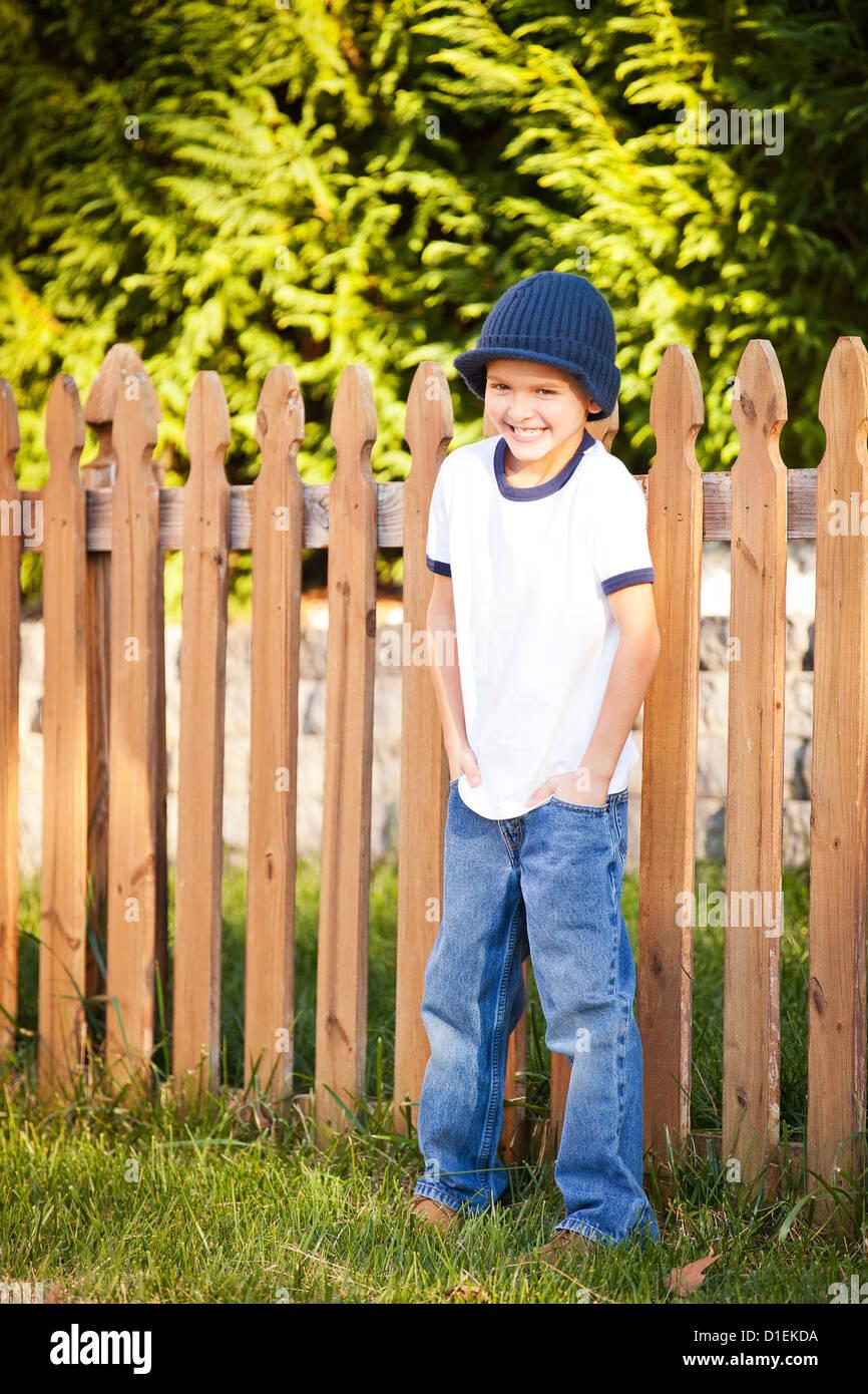 Retrato de niño de 8 años Imagen De Stock