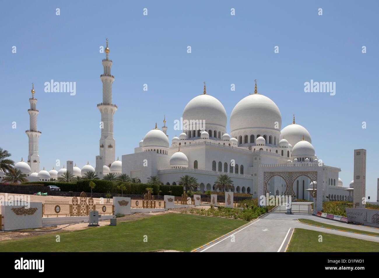 Mezquita Sheikh Zayed, Abu Dhabi, Emiratos Árabes Unidos, Oriente Medio Imagen De Stock