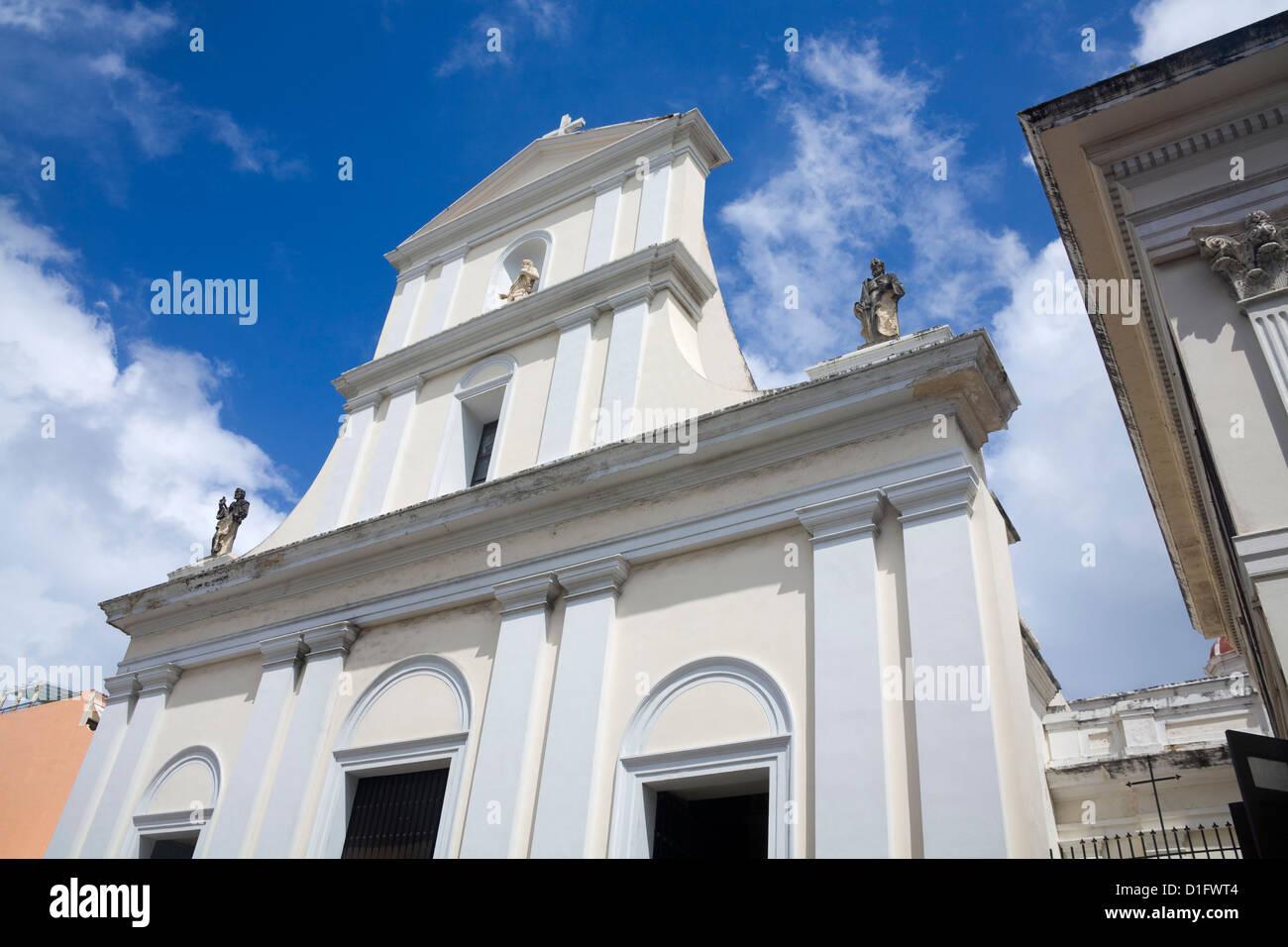 Catedral de San Juan, Puerto Rico, la Isla de Las Antillas, el Caribe, Estados Unidos de América, América Imagen De Stock
