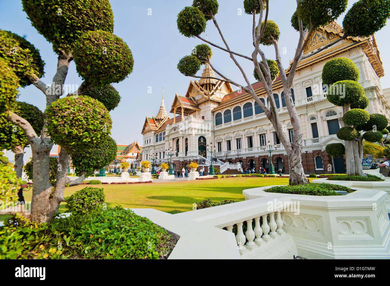 Chakri Maha Prasat Hall, Grand Palace, Bangkok, Tailandia, el sudeste de Asia, Asia Imagen De Stock