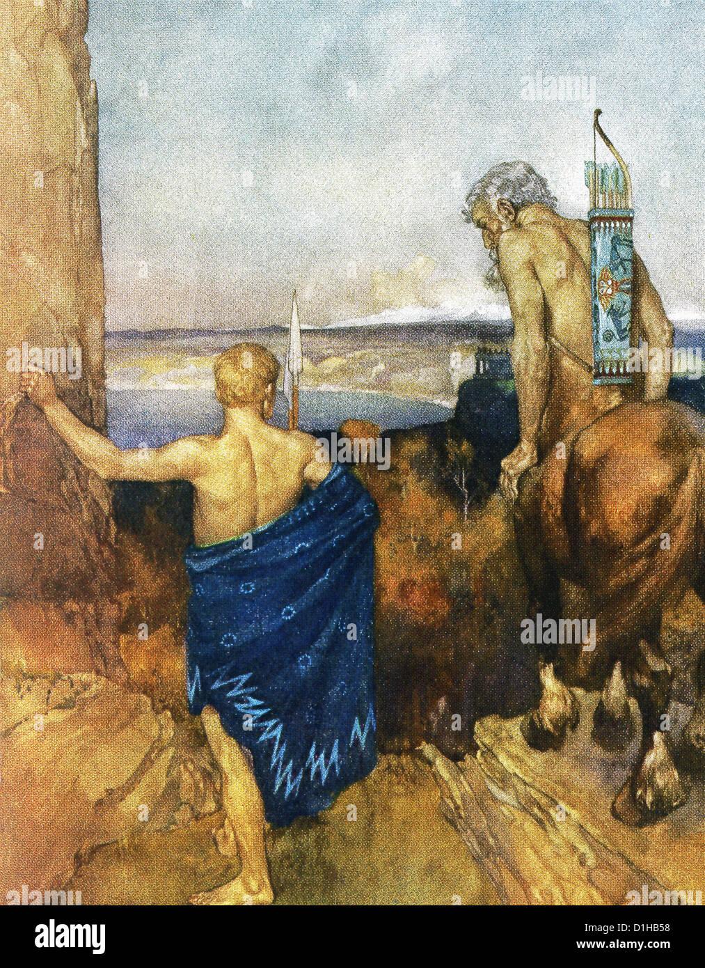 El centauro Quirón mira a Jason a3d3df804ae3a