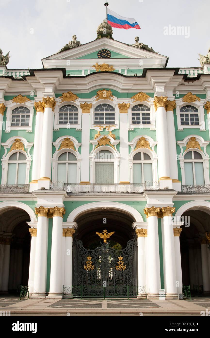 El Museo Estatal del Hermitage, en San Petersburgo, Rusia. Foto de stock