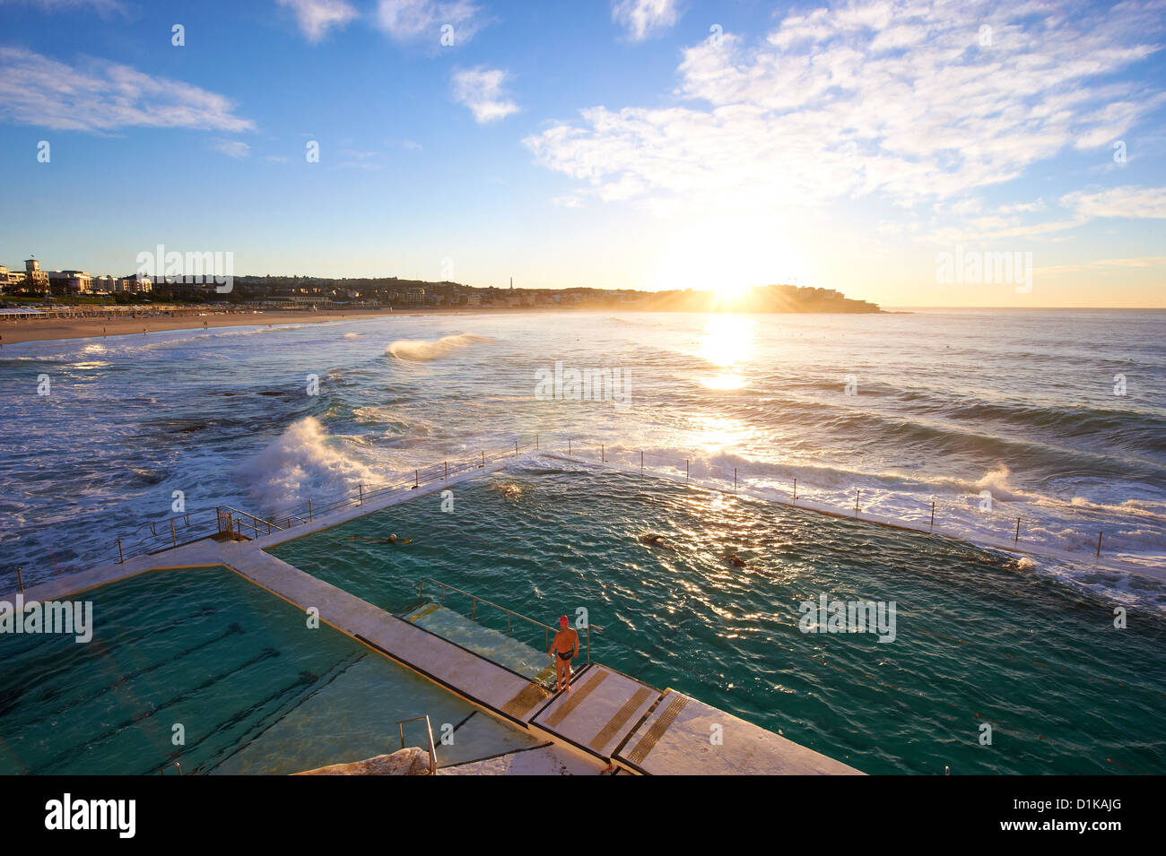 Bondi icebergs, Sydney, New South Wales AustraliaFoto de stock
