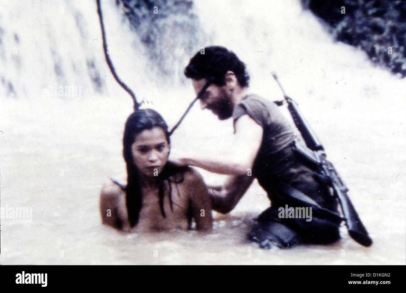 Pelotón a Hell Dog Tags Minas (Gigi Dueñas), Willy (Robert Haufrecht) *** Local Caption *** 1985 Gloria Video GmbH Foto de stock