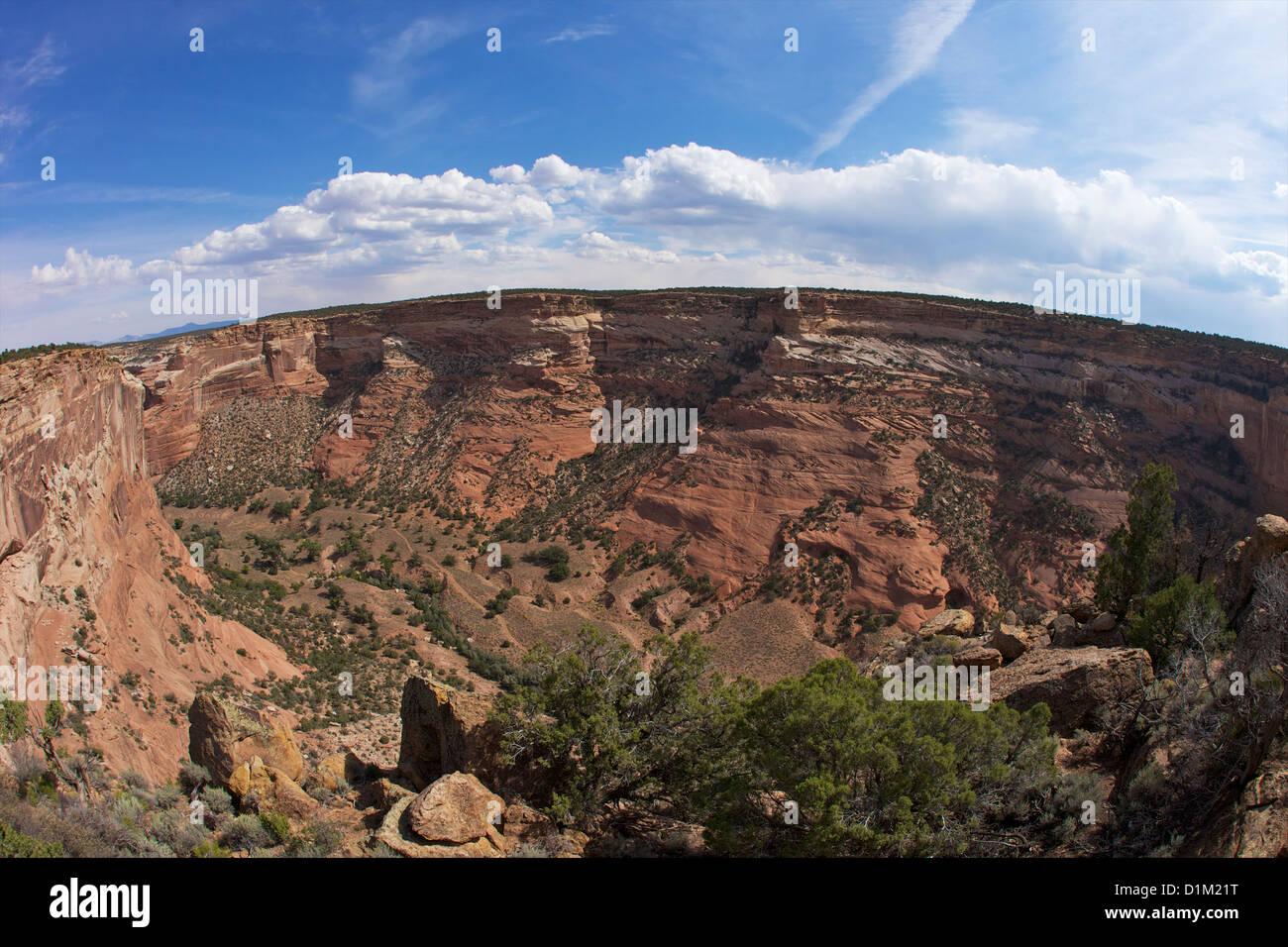 Masacre Cueva Mirador, Monumento Nacional Cañón de Chelly, Arizona, EE.UU. Foto de stock