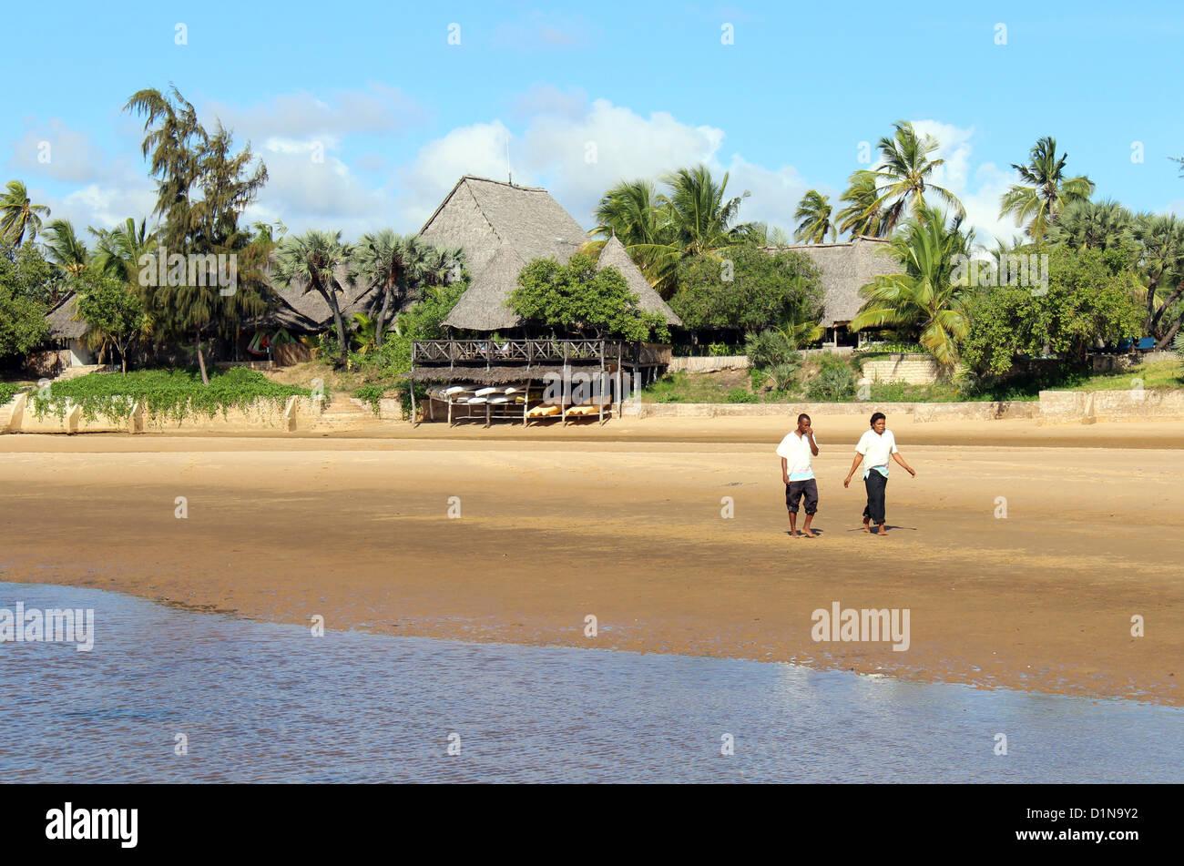 Kipungani Explorer beach resort, Isla de Lamu, Kenya, East Arica Imagen De Stock