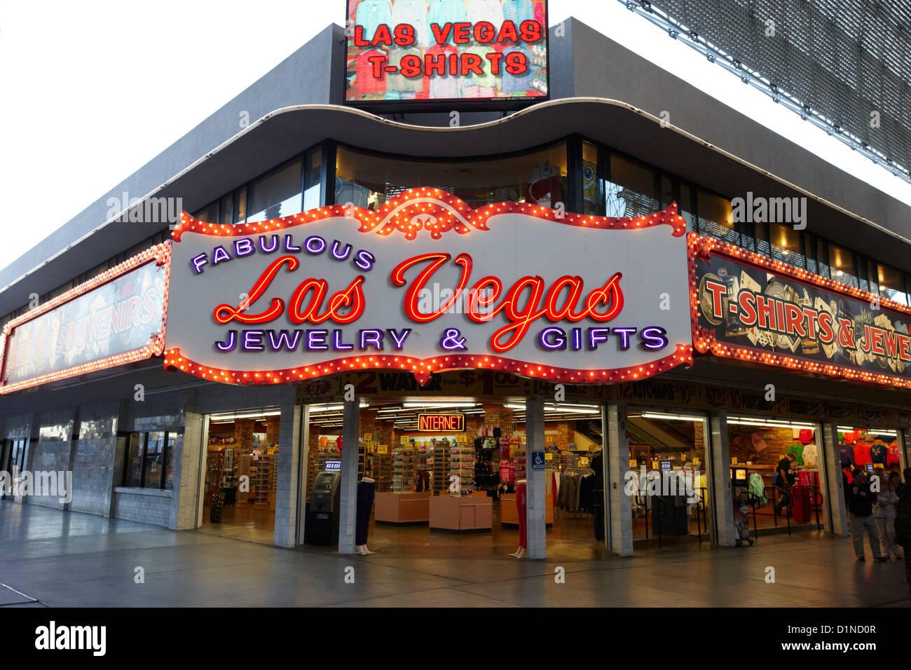 Fabuloso las vegas joyas y regalos Freemont Street Nevada EE.UU Imagen De Stock