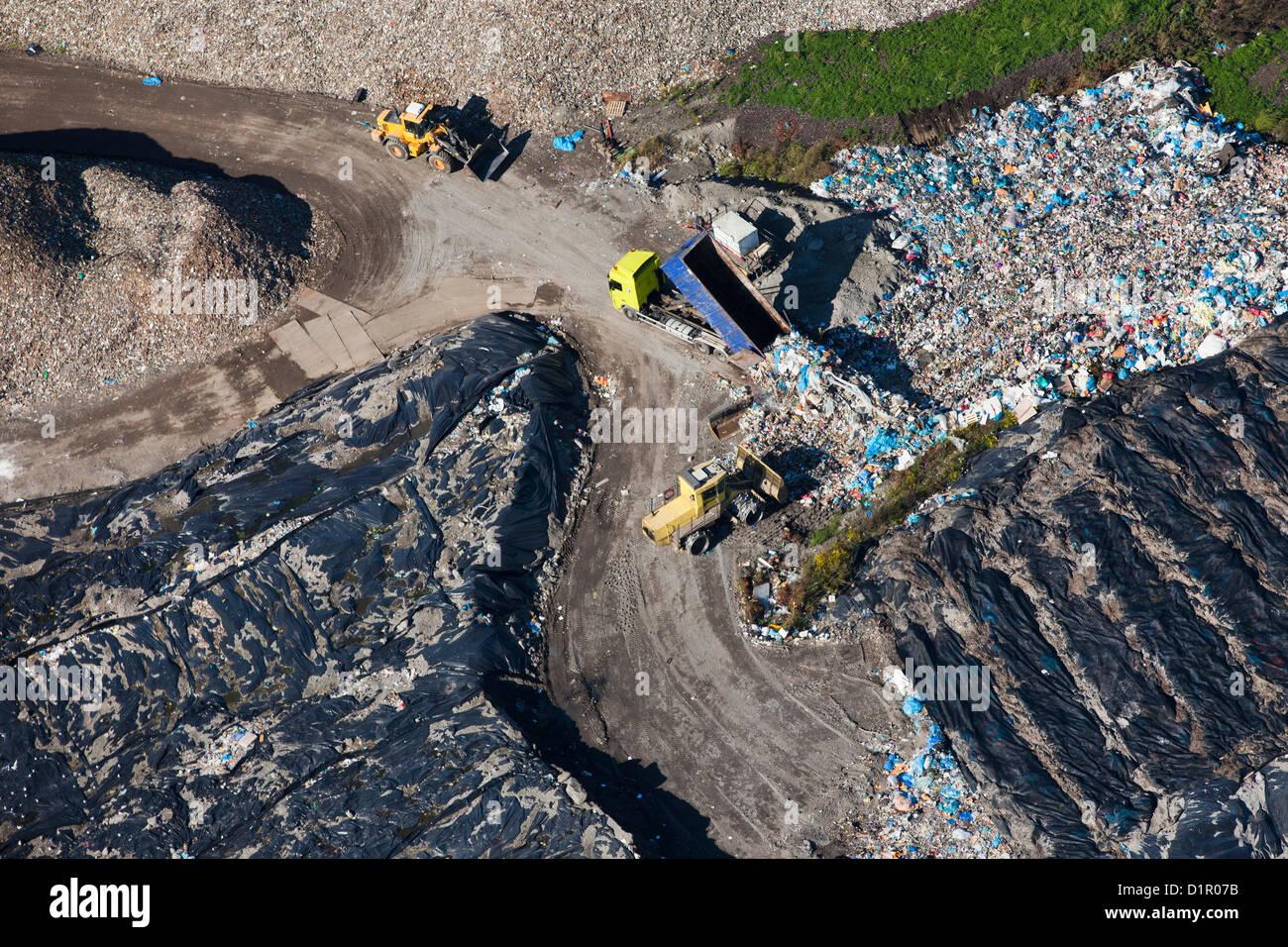 Los Países Bajos, Hengelo, empresa de incineración de residuos. Antena. Imagen De Stock
