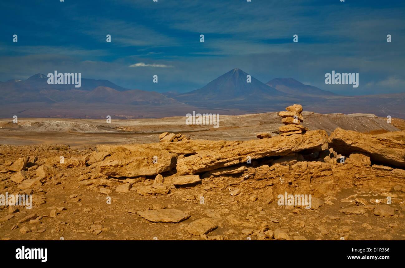 Valle de los dinosaurios/Valle de la muerte, el desierto de Atacama, Chile Foto de stock