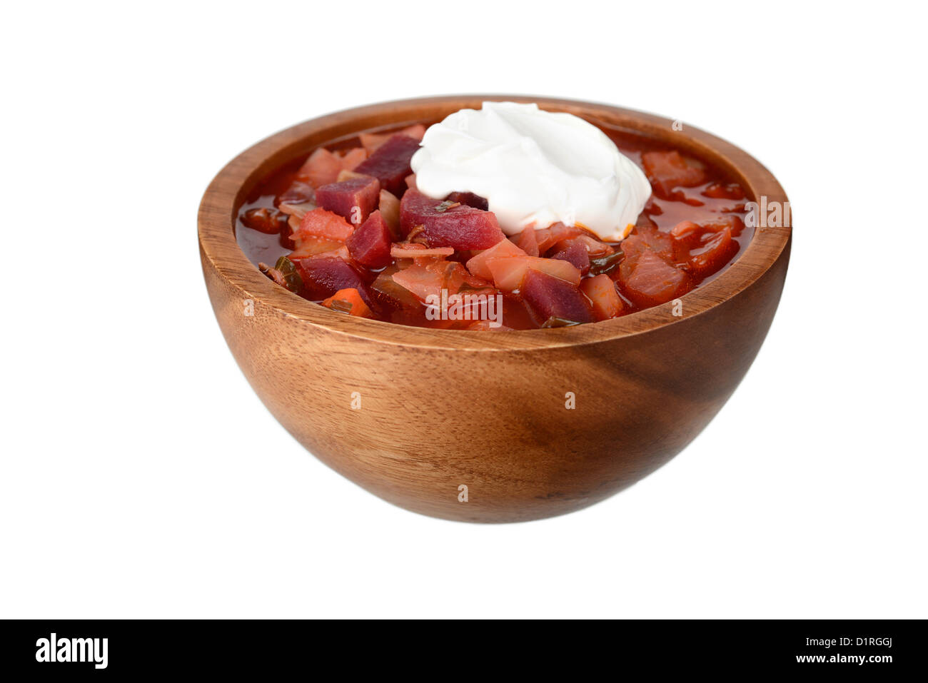 Borscht, sopa de remolacha tradicional rusa, estofado Imagen De Stock