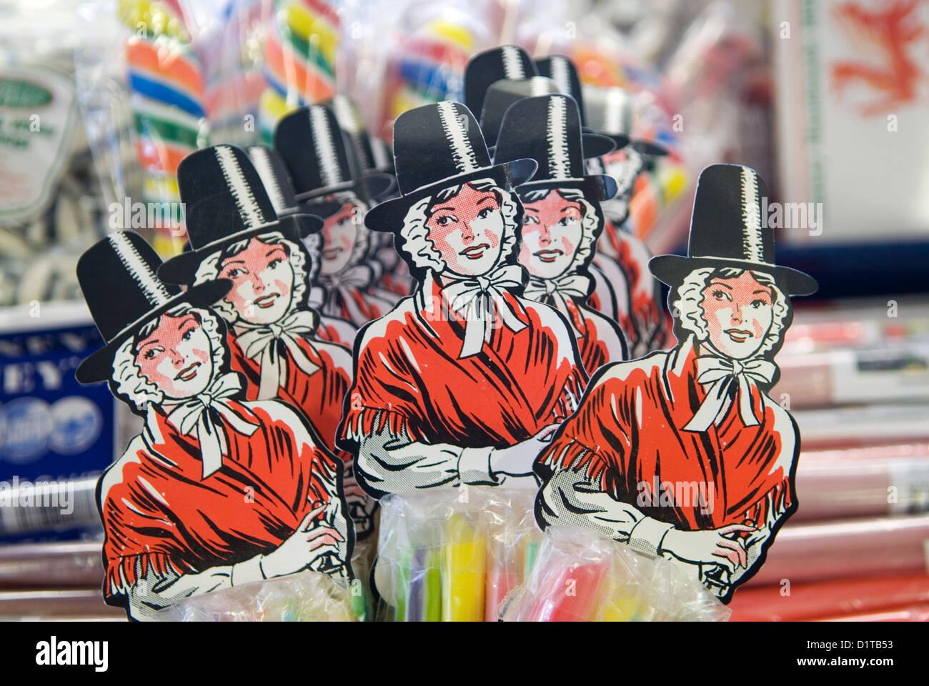 Traje Nacional Galés. Gales tienda de dulces. HOMER SYKES Foto de stock