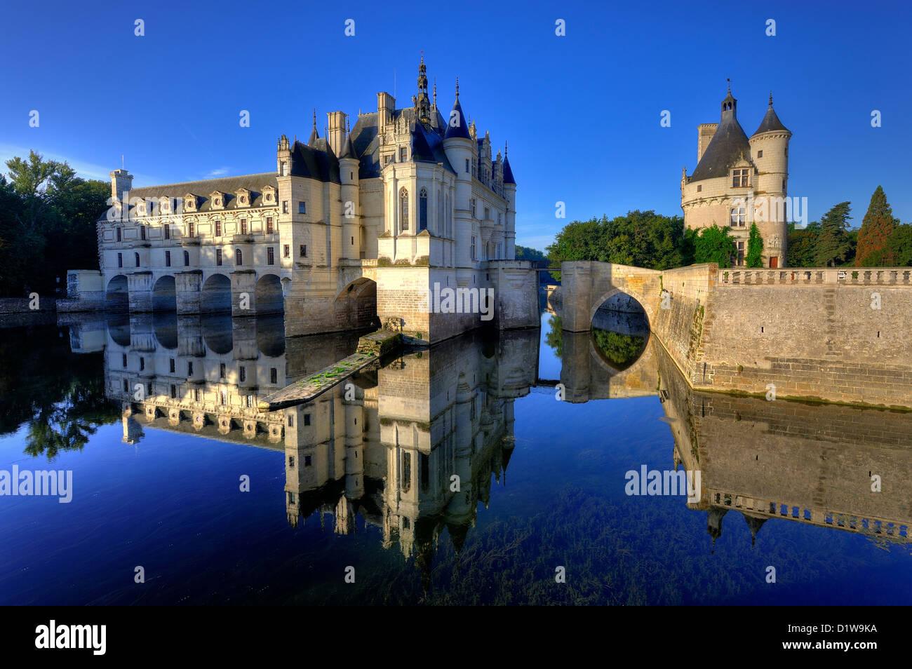 Château de Chenonceau en el Valle del Loira Imagen De Stock