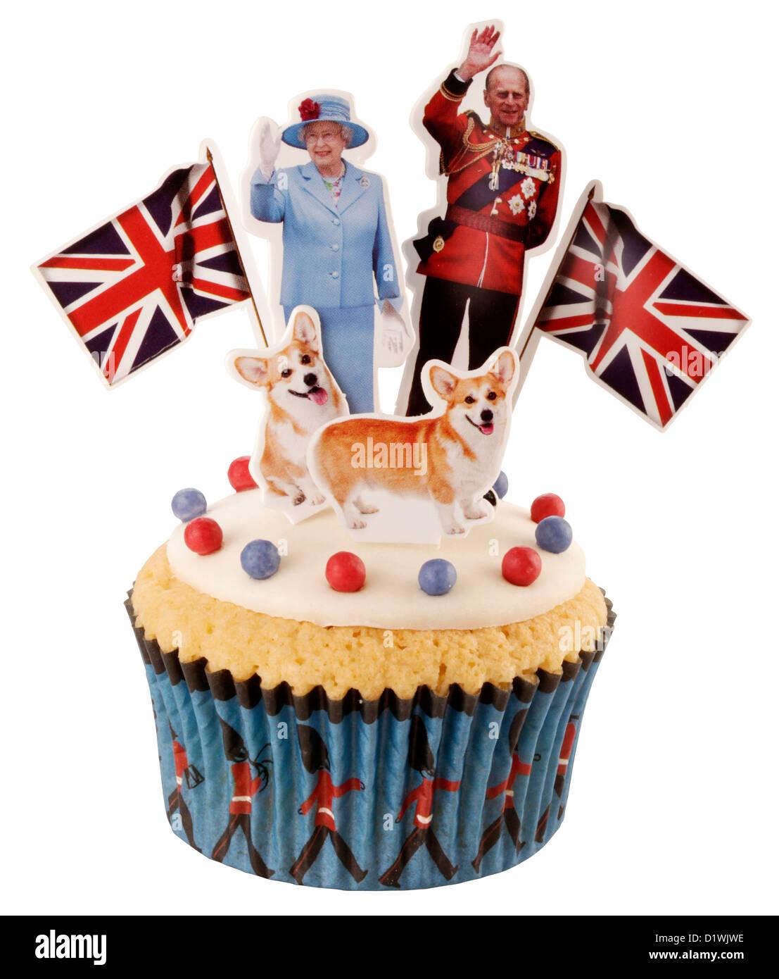 Recorte del Royal British celebración CUPCAKE Foto de stock