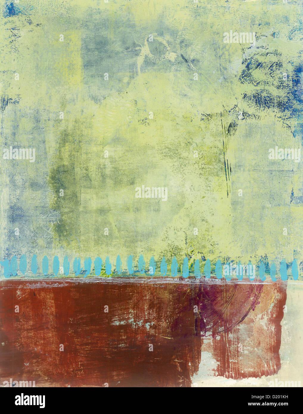 La pintura abstracta con espacio para el diseño y la copia. Imagen De Stock