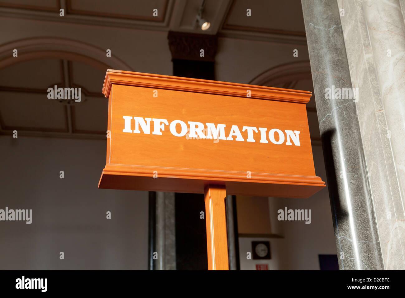 Mostrador de información sign Imagen De Stock