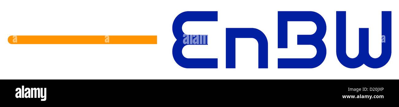 Logotipo de la empresa energética alemana EnBW con sede en Karlsruhe. Imagen De Stock