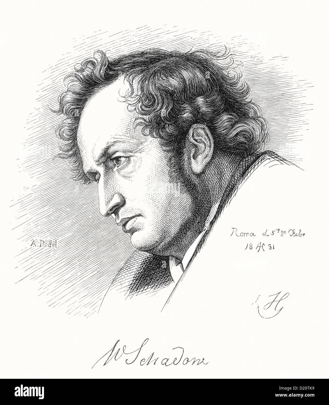 Friedrich Wilhelm Schadow, 1789 - 1862. Artista alemán y pintor romántico. Foto de stock