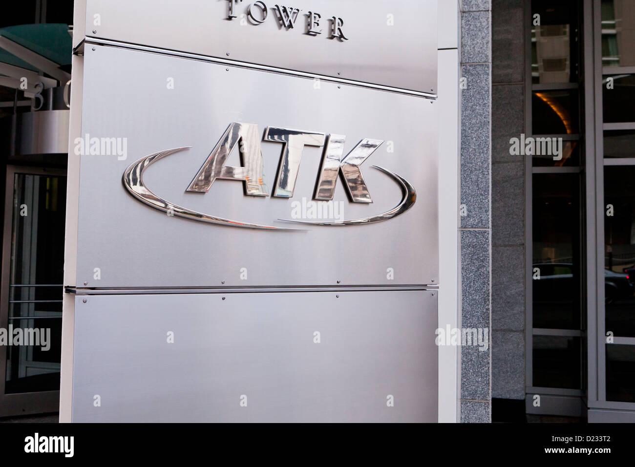Logotipo de la compañía ATK Imagen De Stock