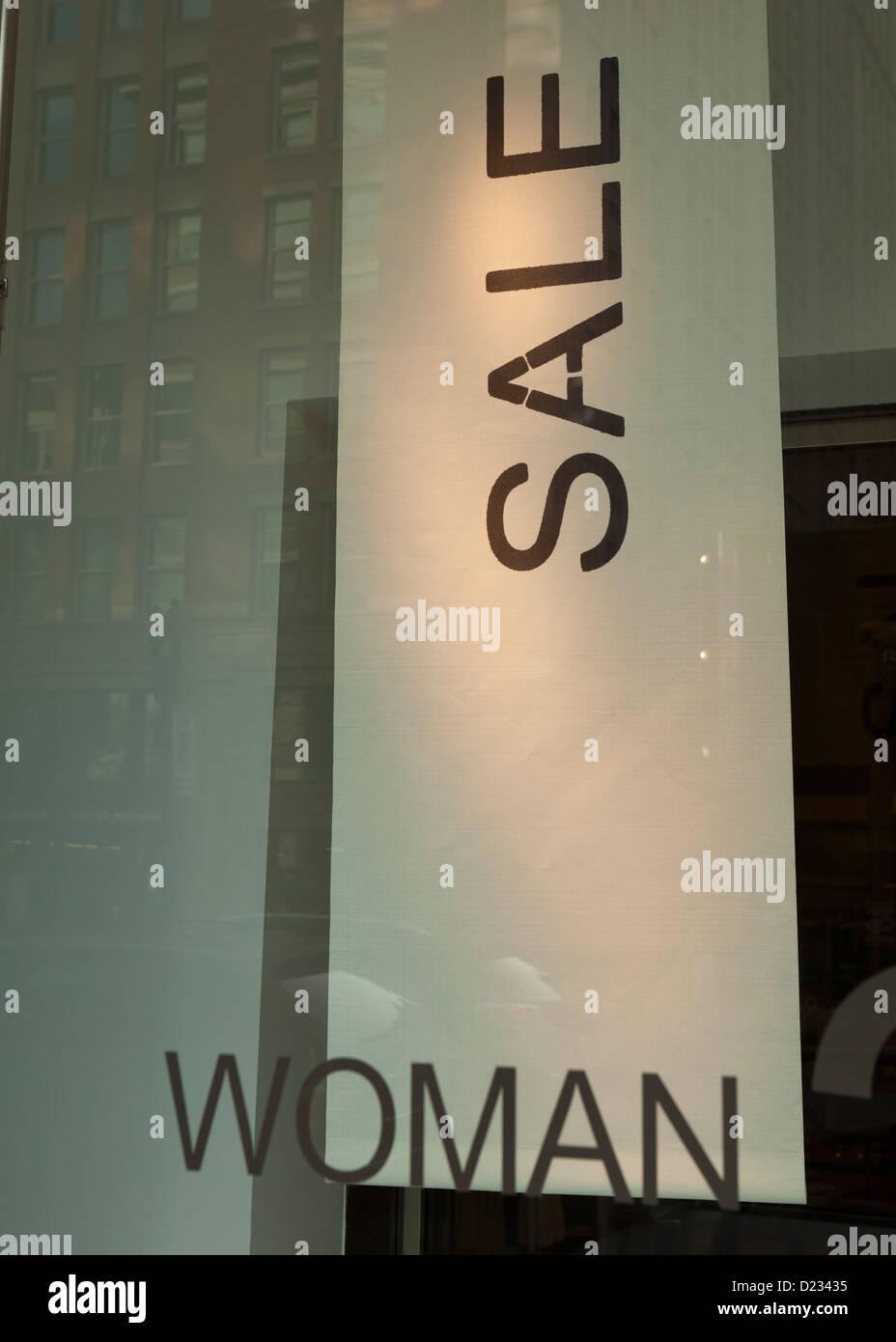 Venta banner en la ventana de la pantalla - EE.UU. Imagen De Stock