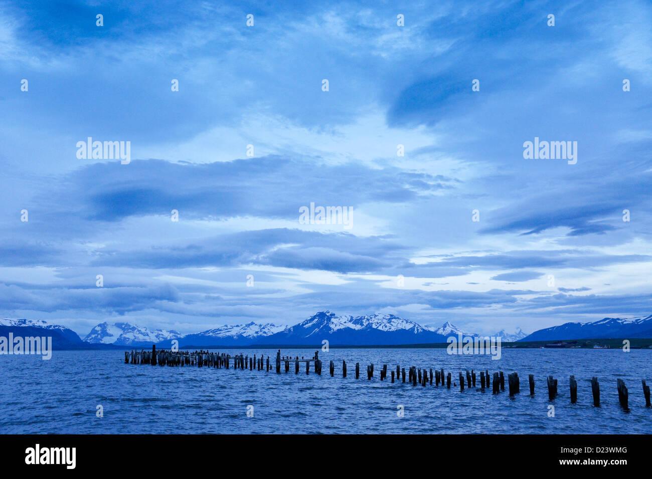 Seno de Última Esperanza de sonido), Puerto Natales, Patagonia, Chile Imagen De Stock