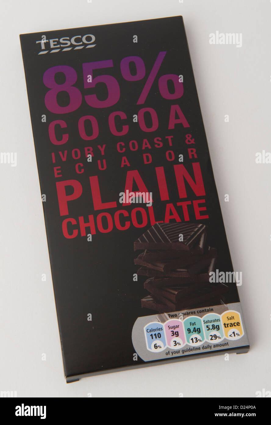 Plain chocolate oscuro Foto de stock