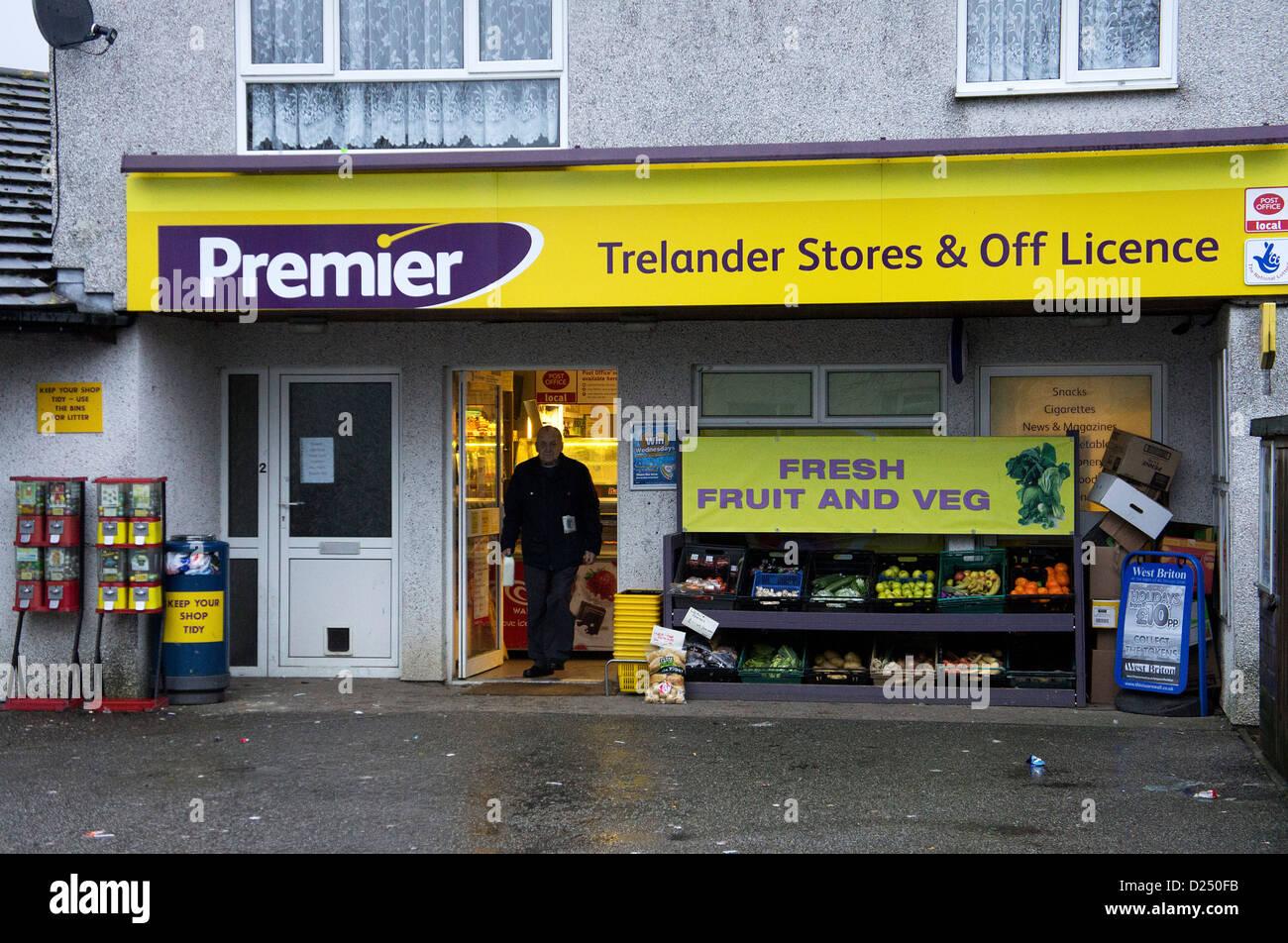 Un Premier tiendas locales y licencia Imagen De Stock