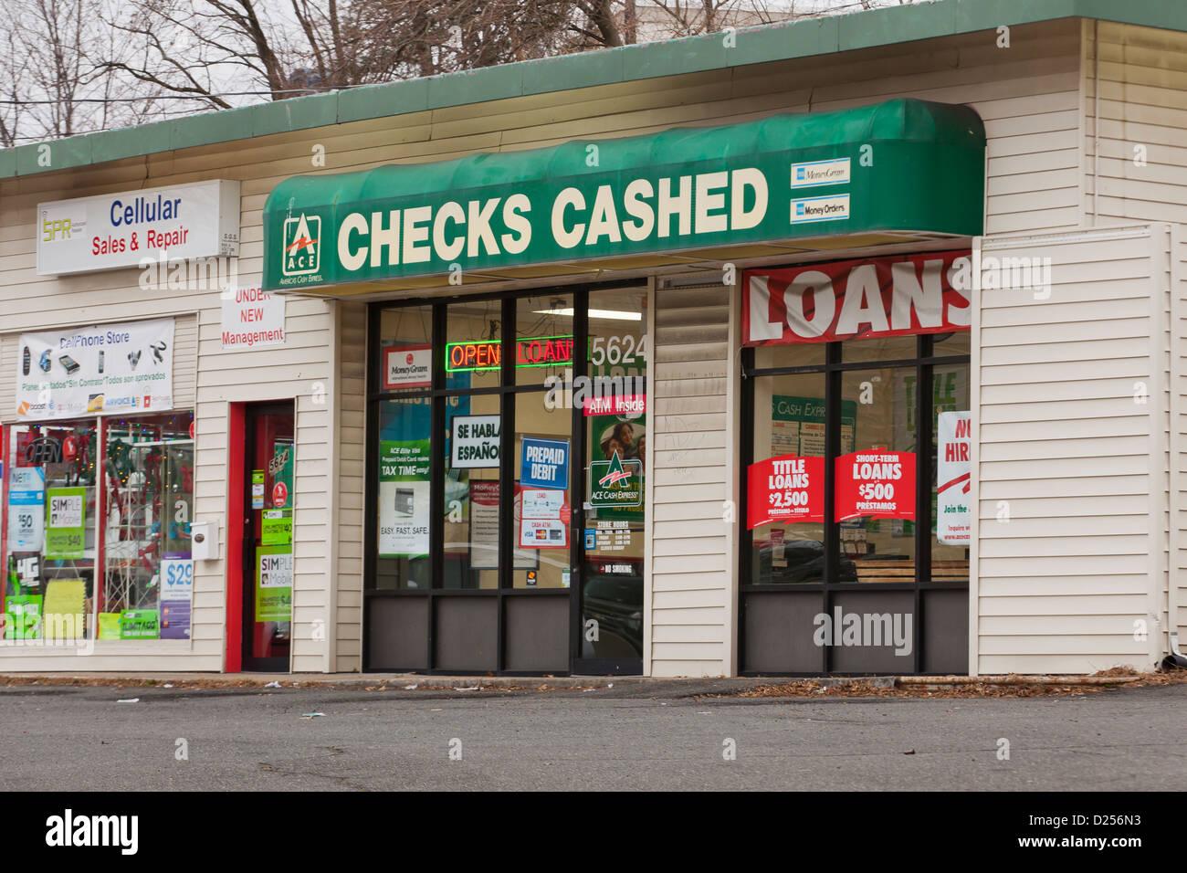 Escaparate de cheque efectivo Imagen De Stock
