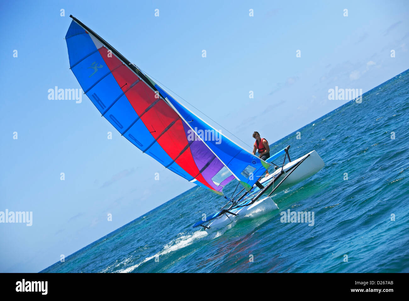 Navegación en catamarán, Isla Verde, Puerto Rico Imagen De Stock