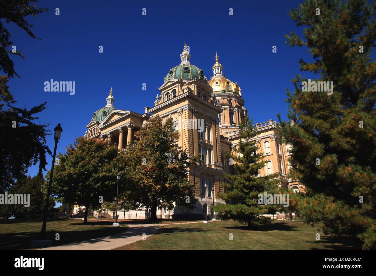 Des Moines, Iowa State Capitol Foto de stock
