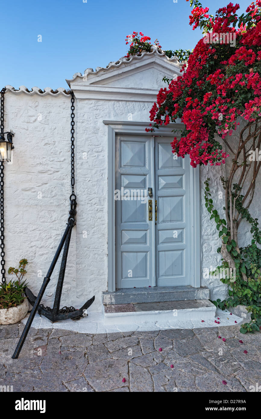 Tradicional casona en Hydra, Grecia Imagen De Stock