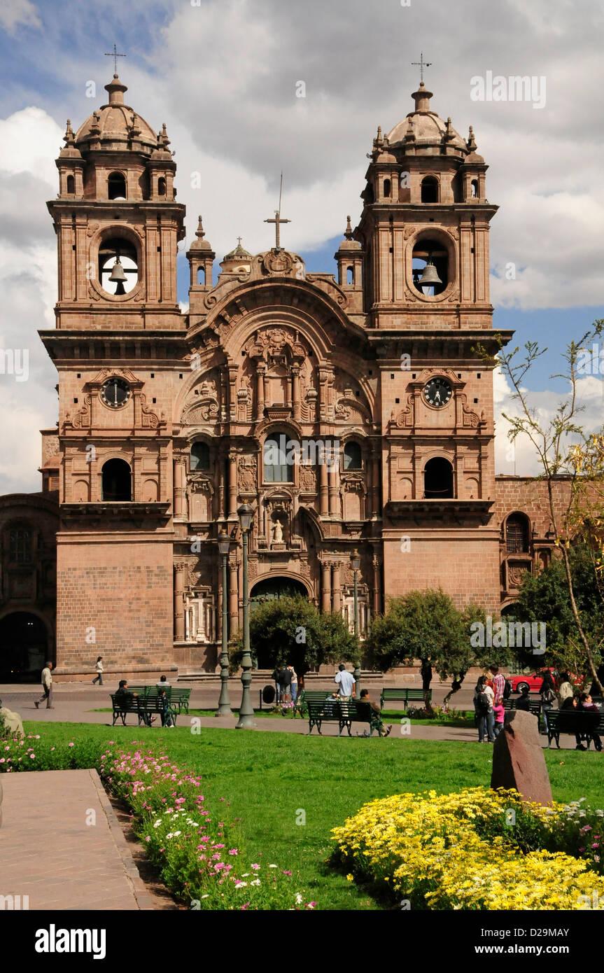 Iglesia de la Compañía de Jesús, en Cuzco, Perú. Imagen De Stock