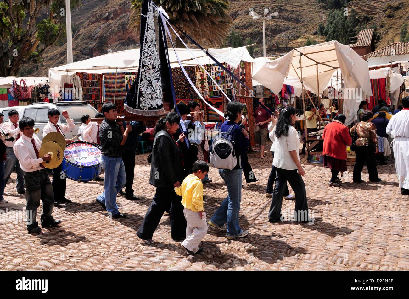 Procesión religiosa, Perú Imagen De Stock