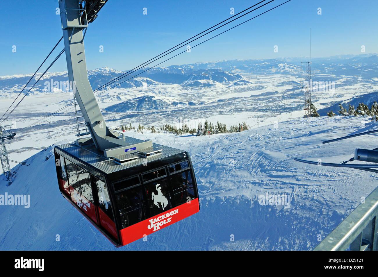 Jackson Hole, Wyoming. Góndola. Imagen De Stock